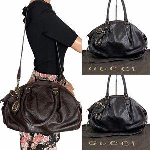Auth GUCCI Sukey Guccissima Leather Handbag